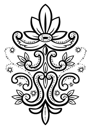 baroque border: Vector illustration of an abstract floral spotted frame Illustration