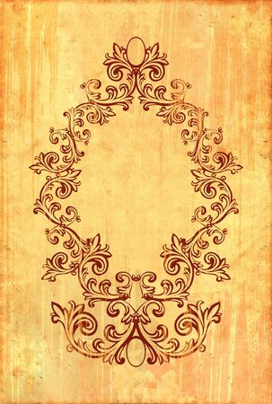 Vintage frame on old textured background.  photo
