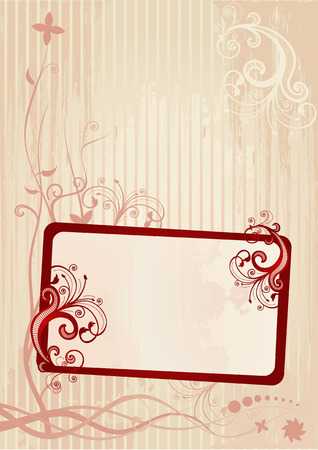 Vector illustration of an abstract floral frame Vector