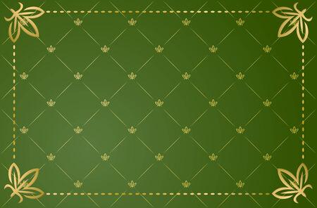 Vector illustration of green vintage frame Vector