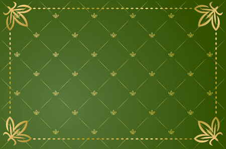 Vector illustration of green vintage frame Vector