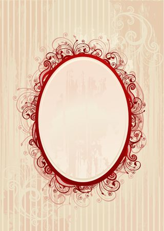Illustration of  floral frame for greeting card illustration