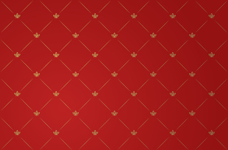 Vector illustration of red and gold vintage wallpaper Vector