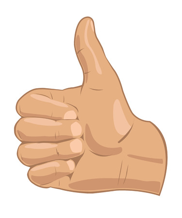 Vector illustration � realistic thumbs up symbol Vector