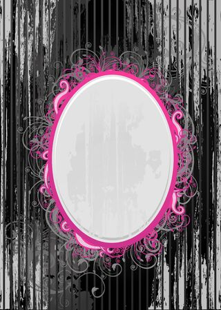 Illustration of black and pink oval frame Stock Illustration - 3109679