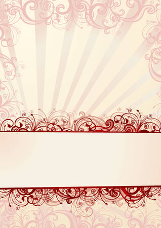 vector artwork: Vector pink floral wallpaper with copy-space