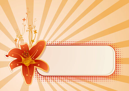 Vector wallpaper with flower and copy-space Vector