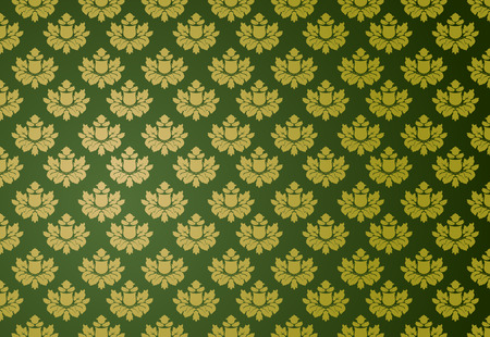 Vector illustration of a green glamour pattern Vector