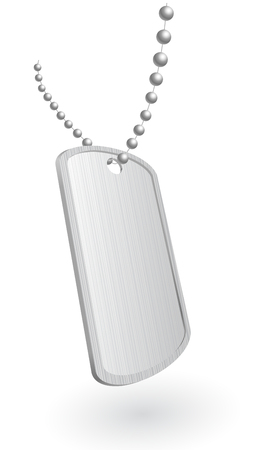 dogtag: Vector illustration of a military aluminum plate Illustration