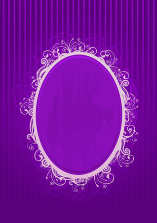 Vector illustration of a violet oval frame Vector