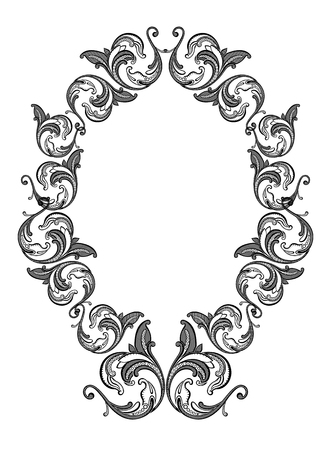 Vector wallpaper with beige floral frame Vector
