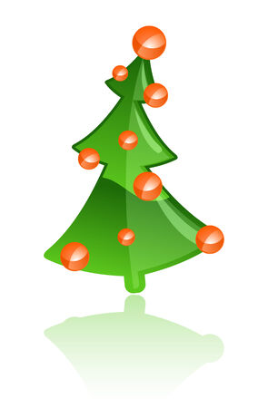 Vector illustration of a bright Christmas tree Vector