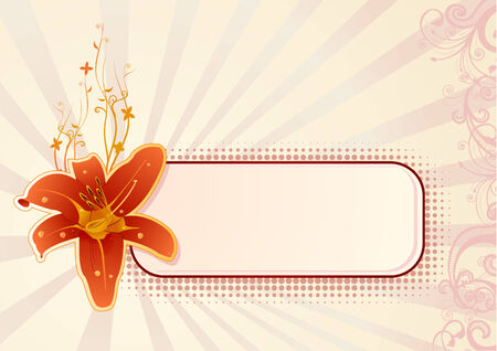 Vector wallpaper with orchid and copy-space Vector