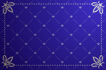 Vector illustration of blue and silver vintage frame Vector