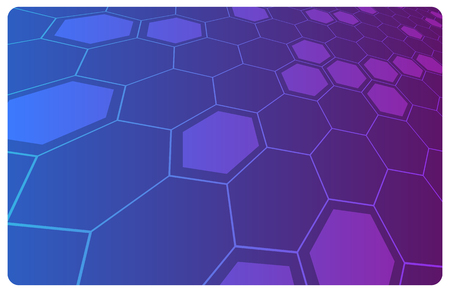 science fiction: Vector violet abstract hi-tech illustration for science or business background