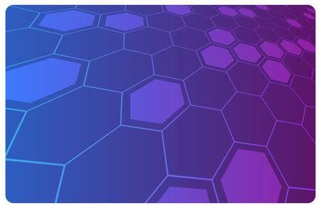 science fiction: Vector violet abstracte hightech illustratie voor wetenschap of bedrijfs achtergrond Stock Illustratie