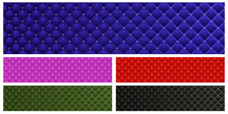 Set of vector colored leather banners Vector