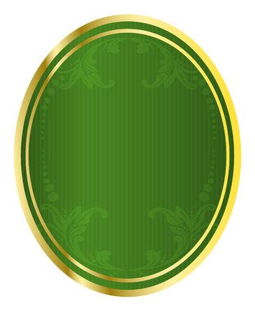 ovalo: Ilustraci�n vectorial real de etiqueta de cerveza