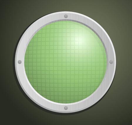 oscilloscope: Vector illustration of old circular radar Illustration