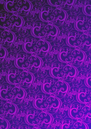 Vector illustration of pink floral wallpaper  Vector