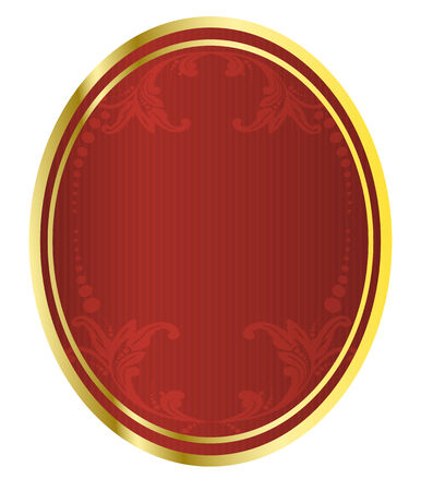 Vector illustration of red royal beer tag  Иллюстрация