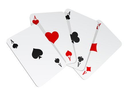 photoreal: Vector illustration of 4 cards on white background