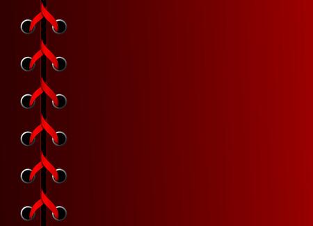 corsetto: Vector cucita album con copia-spazio