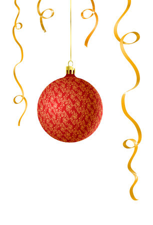 Vector illustration of Christmas ball with decorations Vector