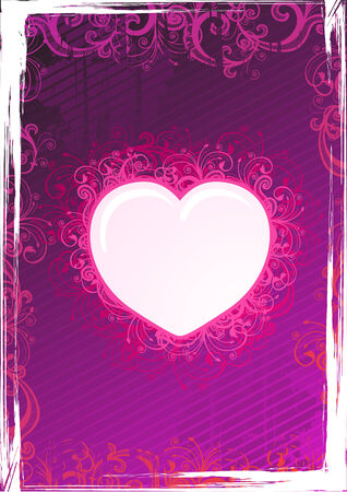 Vector illustration of pink floral heart frame Stock Vector - 3880478