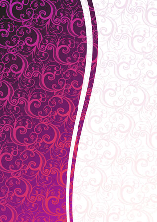 Vector pink floral background with copy-space Stock Vector - 4001420