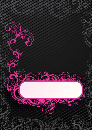 Vector illustration of floral wallpaper with copy-space  Stock Vector - 4001419
