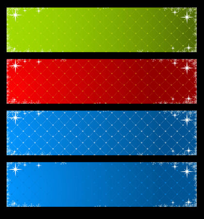 Set of vector holiday banners  Vector
