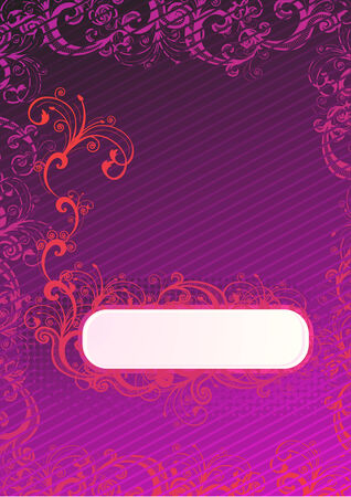 Vector illustration of purple wallpaper with floral copy-space Stock Vector - 4017388