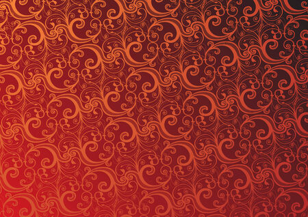 Vector illustration of red floral background   Vector