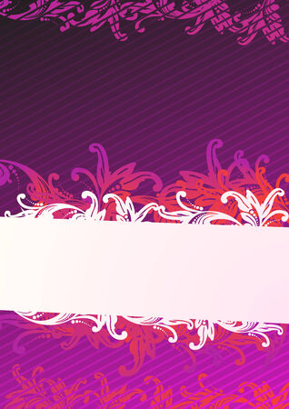 Vector illustration of purple floral wallpaper  Stock Vector - 4046905