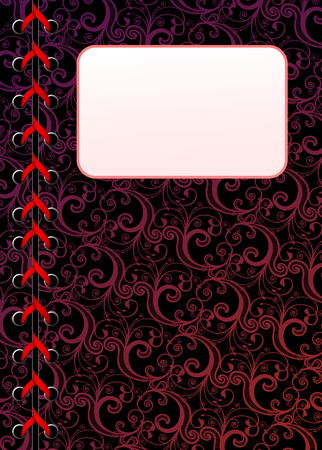 laced: Vector laced floral dark wallpaper with copy-space