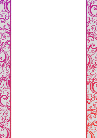 Vector blank with pink florals, all patterns are hidden under white (not cut) Stock Vector - 4046908