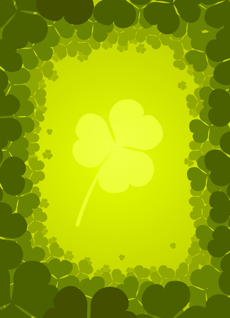 Vector background with clover for St. Patrick's Day Stock Vector - 4299019