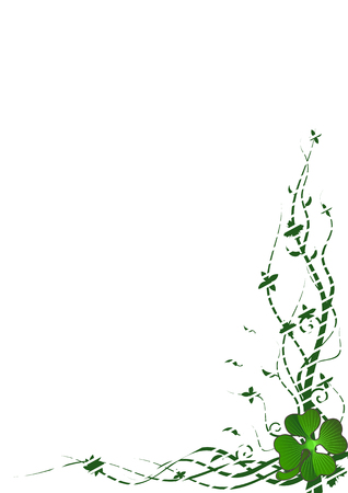 Vector frame with clover for St. Patrick�s Day