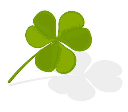 Vector illustration of a clover over white background
