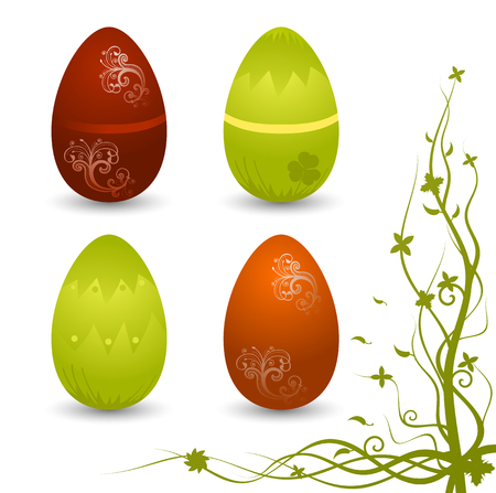 Set of vector Easter eggs  Vector