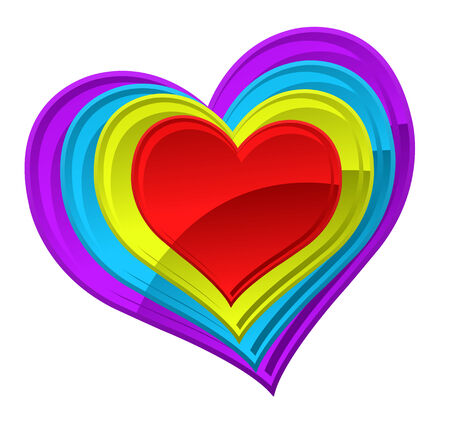 Vector illustration of an abstract colorful heart  Vector