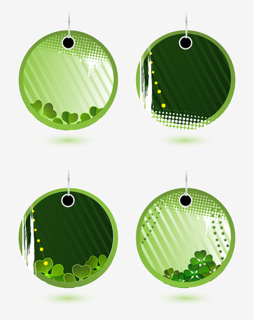 Set of vector green labels for St. Patrick's Day Stock Vector - 4373173