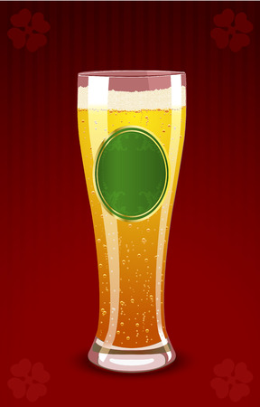 Vector illustration of a beer glass for St. Patrick's Day