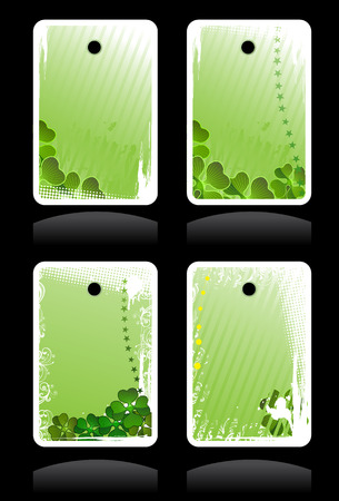 Set of vector green banners for St. Patrick's Day Stock Vector - 4456551