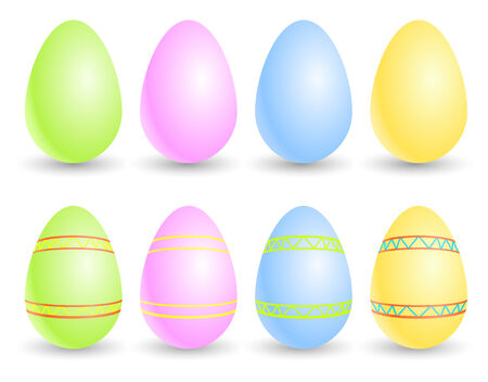 Set of vector Easter eggs Stock Vector - 4456552