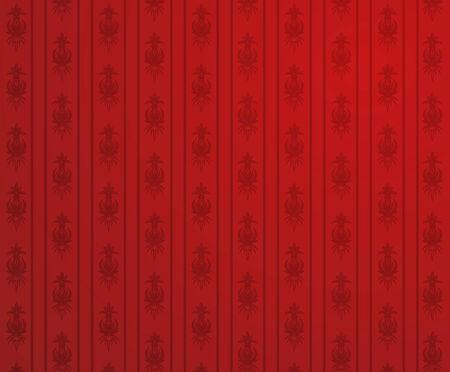 bordo: Vector illustration of a red glamour pattern  Illustration