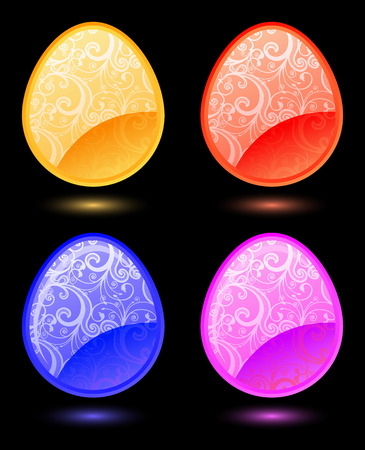 Set of vector stylized Easter eggs  Stock Vector - 4496468