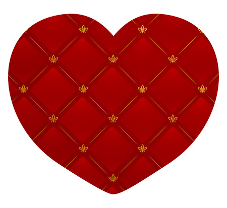 Vector illustration of a leather textured heart  Vector