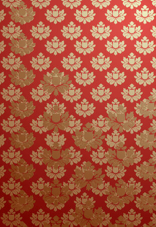 bordo: Vector illustration of a vertical red and bronze glamour pattern